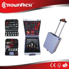 186pcs tool set complete tool box set with bts,sockets,screwdriver trolley
