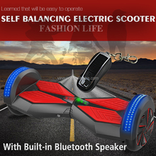 2015 Drifting hoover board 2 wheel LED bluetooth speaker electric scooter parts electric scooter China