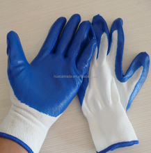 Nitrile palm coating and smooth finish working gloves