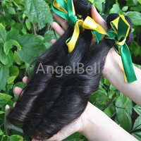 Angelbella Indian Human Hair New Design Funmi Hair Extension Tangle&Shedding Free 100% Natural Indian Human Hair Price List