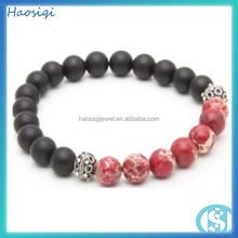 2015 Handmade religious red stone sea Sediment Jasper bead bracelet