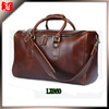Hot selling Fully real leather duffel holdall bag in stock for gym hiking camping trendy mens travel bag