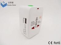 Unviersal travel adapter with USB charger with EU/UK/AUS/US plug worldwide used