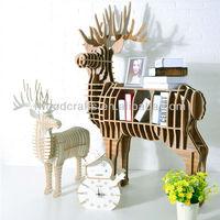 Animal shape Wood Deer Coffee Table iW-WD001