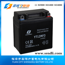 Big Capacity MF Motorcycle Battery 12V 3AH Sealed Maintenance Free