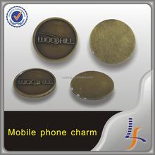 charm jewelry metal tag custom mobile phone charm