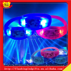 Party Supply Manufacturer Silicone Customized Flashing LED Bracelet LED Silicon Wristbands For Party Dance