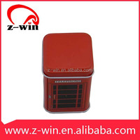 Z-WIN 44*44*70mm booth shape Tin Printed storage cans Gift Box