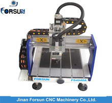 Jinan cnc router supplier afford micro cnc machine for wood plastic foams with strong cnc router frame 400*400mm
