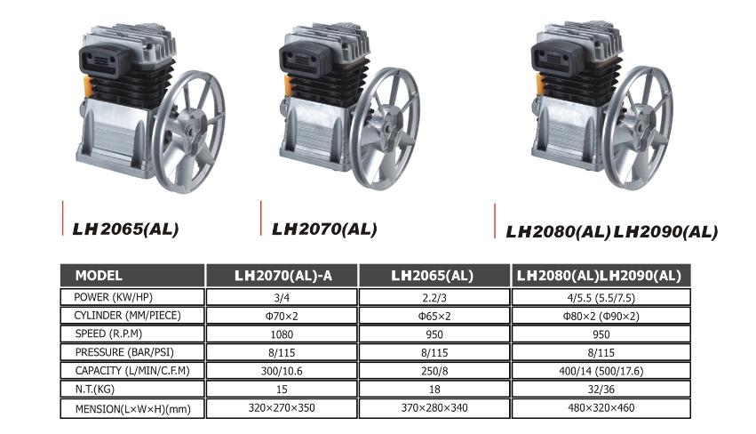 3hp 2 2kw air compresseur t te aluminium compresseur t te compresseur pi ce de rechange pi ces - Pieces detachees compresseur d air ...