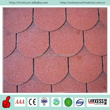 Fiberglass Red Color Fish Scale Waterproof Asphalt Tile Price