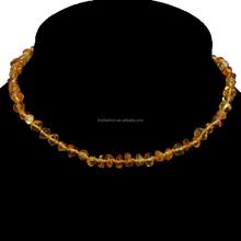 amber Teething necklace breakaway cierres barroco báltico miel ámbar báltico dentición collar venta al por mayor