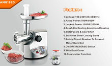 2014 high quality Aluminum Meat Grinder/meat mincer with GS,ROHS