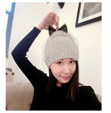 Wool Hat Women Keep Warm Winter Beanie Beret Braided Crochet knitted hats