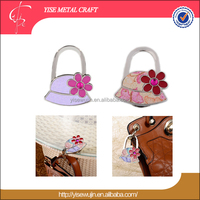 Promotional Gifts Fashion Hat Design With Custom Logo Lock Shape Foldable Handbag Purse Bag Hook Purse Holder For Table