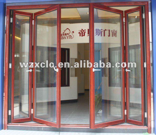 Large garage warehouse opening aluminum folding door buy for Large opening patio doors