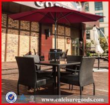 Round red sunshade garden patio umbrella parasol