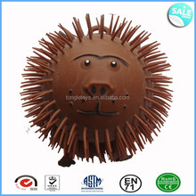 New animal face 9 inch long hair puffer ball
