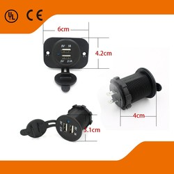 motorcycles Use and Electric Type Motorcycle DIN Hella Socket Dual USB Charger