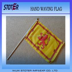 Large Hand Waving Courtesy Flag -Scotland Scottish Lion Rampant