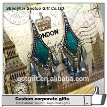 Fashion big drop custom Earrings with crystal