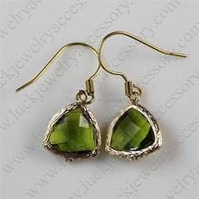 Picture Of Gold Earrings Green Earrings Wholesale