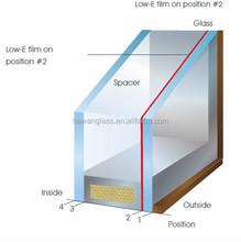 Energy saving Double glazing glass with offline Low E coating
