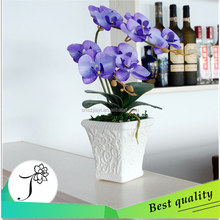 JY china purple butterfly orchid decorative handmake artificial flower making