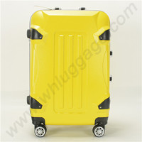 New Design PC + Aluminum Spinner Luggage Without Zipper