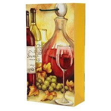 fashion classical design double bottles wine gift bag