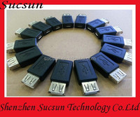 USB A female to Micro 5PIN Female usb charger adapter connector for Tablet PC /U Disk/USB