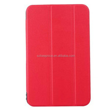 waterproof slim folding hard stand pu leather tablet pc case for hp
