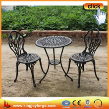 Small outdoor leisure fashion cast aluminum bistro dining set furniture