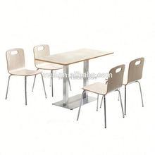 mcdonald's kfc fast food table chair set custom made restaurant furniture