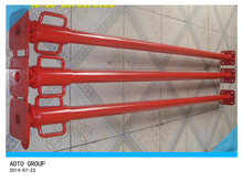 red painted steel scaffolding prop construction support