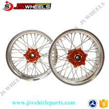 Cheap Motorcycle Wheels / KTM Supermoto Wheel Sets: Red Hubs With Red Rims