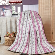 Alibaba China 100% cotton fabric summer bedding quilt