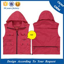 mens short sleeve cotton canvas work vest