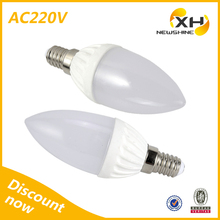 high power candle led bulb e14 base / epistar chip led bulb with ce certificate