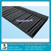 Construction Colorful Galvanized Stone Coated Metal Shingle Roofing Tiles