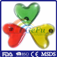 GF heart shape instant heat pack click heat gel pack/ reusable hot pads/hand warmer
