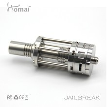 Homai jailbreak, clearomizer, rebuildable, bottom fed, 0.2/0.5 ohm replaceable coil inside