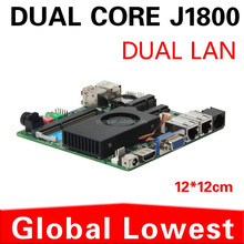 2 lan ports mini itx embedded motherboard with fan mini business mainboard Intel J1800 dual-core 2.41Ghz support VGA+HDMI