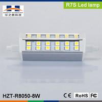 R7S 8W SMD5050 42pcs 640-720LM Warm White LED plug light 118mm led r7s 20w