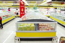 OEM factory suply low price nestle curved glass door table top ice cream freezer