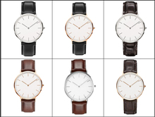 YB OEM&ODE new arrival simply vogue elegance genuine leather wrist watches chronograph China Factory price