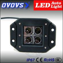 OVOVS 12v 24v 12w flash mount led driving lamps for car,vehicle