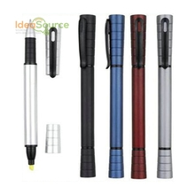 Hot Sale Plastic Pen With Cap Ballpoint Pen With Highlighter Wholesale