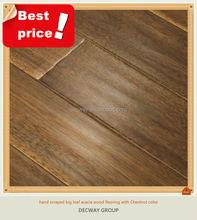 hand scraped acacia engineered wood flooring asia walnut