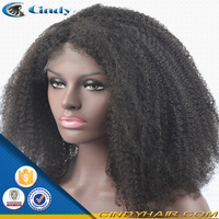 Natural color 100% virgin brazilian human remy afro braided hair wigs for black men